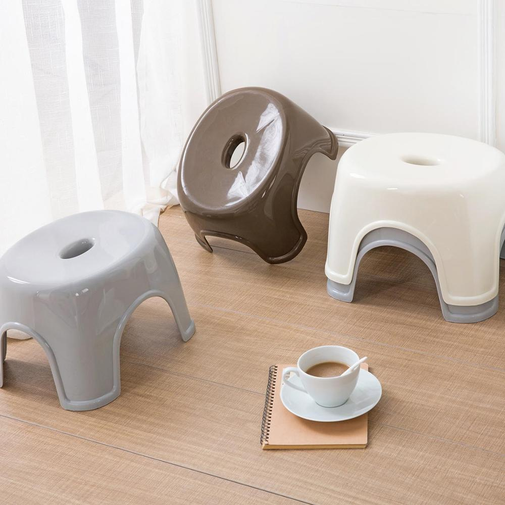 Japanese Style Thicken Plastic Stool Living Room Change Shoes Bench Mini Stool Portable Home Outdoor Kids Seat Small Chair