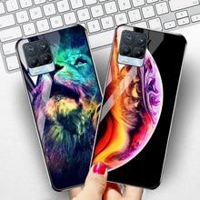 Funda de lujo para teléfono móvil OPPO Realme 8 Pro, carcasa de vidrio templado con espacio de estrellas, Realme, 7, 6, 5, X2, X7 Pro, C21, C20, C3, Realme, 8