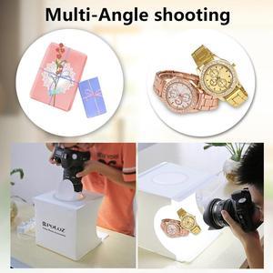 Image 5 - Photo Studio Box 20cm Mini Ring LED Light box folding Lightbox Photography Light Studio Shooting Tent Box Kit  6 Color Backdrops