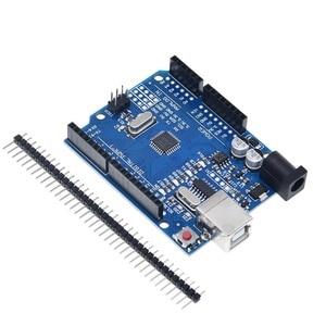 Image 2 - TZT UNO R3 geliştirme kurulu ATmega328P CH340 CH340G Arduino UNO için R3 düz Pin başlığı ile kablo