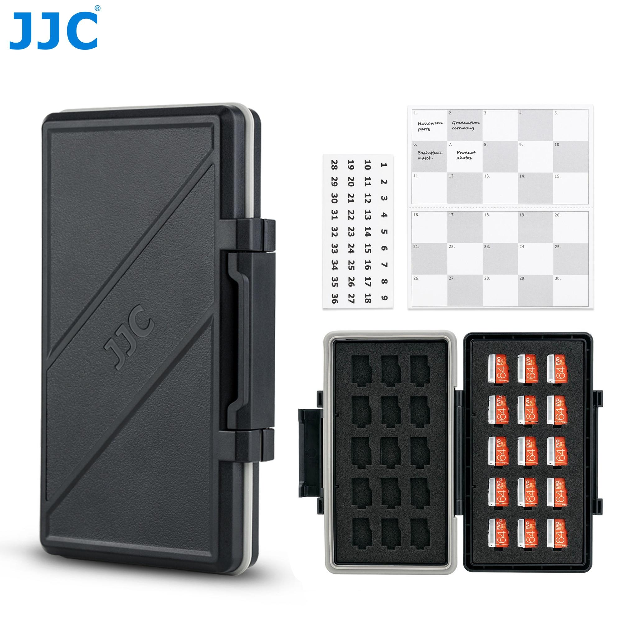 JJC 30 Slot Memory Card Case Wallet Holder Organizer for Micro SD Micro SDHC Micro SDXC TF MSD Card Storage Box Keeper Protector