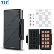 JJC 30 слотов чехол для карты памяти кошелек держатель Органайзер для Micro SD Micro SDHC Micro SDXC TF карточка MSD коробка для хранения защитный держатель