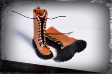 1/6 FA-18-11 Black/Brown Female Shoes Accessory Agent team Trendy Leather Boots Solid Inside Model  for 12 Figure