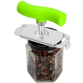 Jar Opener Arthritis Can Opener Stainless Steel Lids Off Labor-Saving 360 Degree Rotation For 1-3.7Inch Cover 1