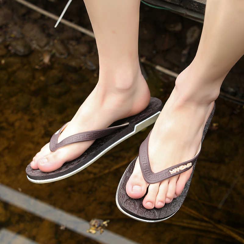 New 2017 Mens Flip Flops Dép EVA Massage Người Đàn Ông Giản Dị Giày Dép Mùa Hè Bãi Biển Thời Trang Flip Flops Nền Tảng sandalias mujer