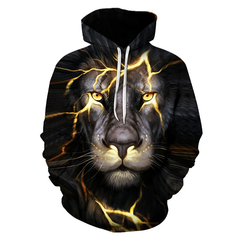 Hot Sales 3D Printed Tiger Men Hoodies Fashion Styles Males Wholesale S-6XL