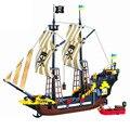 Конструктор большой пиратский корабль лодка Черная жемчужина тихий Мария Приключения Карибское море развивающие Кирпичи Игрушка подарок ...