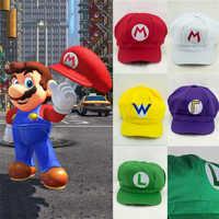 Sombreros de Super Mario para niños y accesorios de Anime