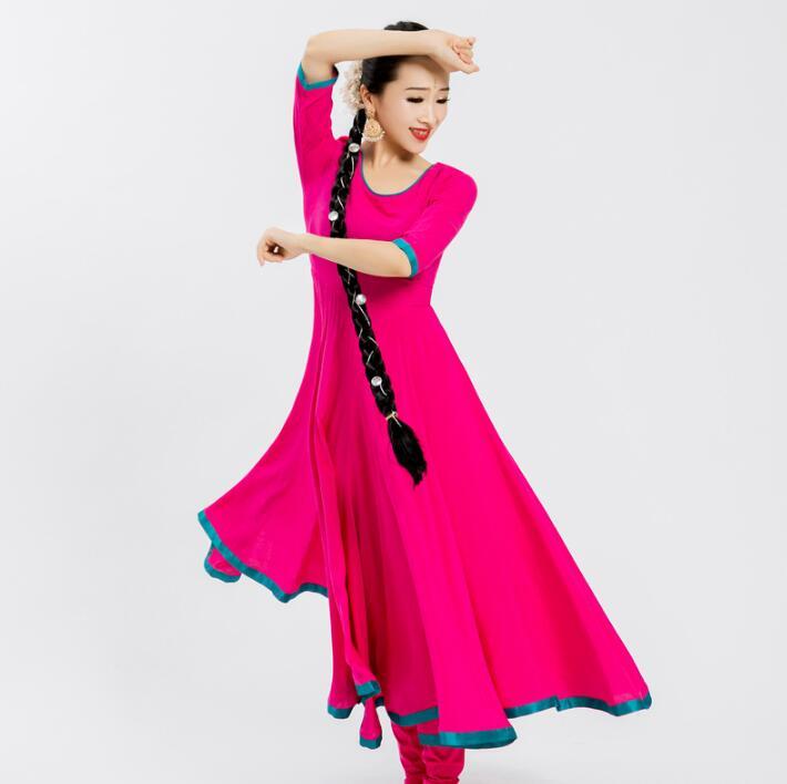 Woman India Sarees Costume Ethnic Style Kurtas Leng Ha Skinny Performance Dance Dress