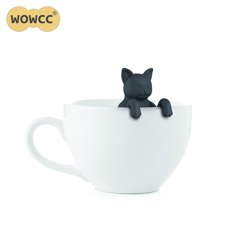 1 Pcs Cat Shape Tea Infuser Strainers Creative Filter Loose Silicone Tea Bag Food Grade Leaf Herbal Spice Filter