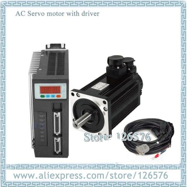 Серводвигатель переменного тока 130ST M10025 130ST 10 нм 2500 кВт об/мин с тормозом и драйвером с кабелем 10 м