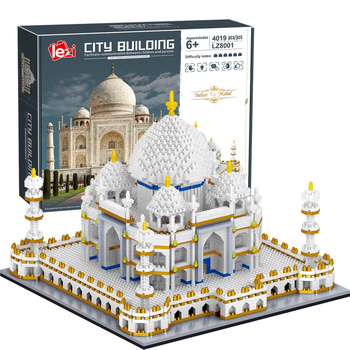 4019 Pcs Micro Diamond Building Blocks Architecture Bricks Toy World Famous Taj Mahal Children Toy Compatible City Adults Gifts balody world famous architecture usa the white house building blocks 3d model diy mini diamond blocks bricks children toy gifts