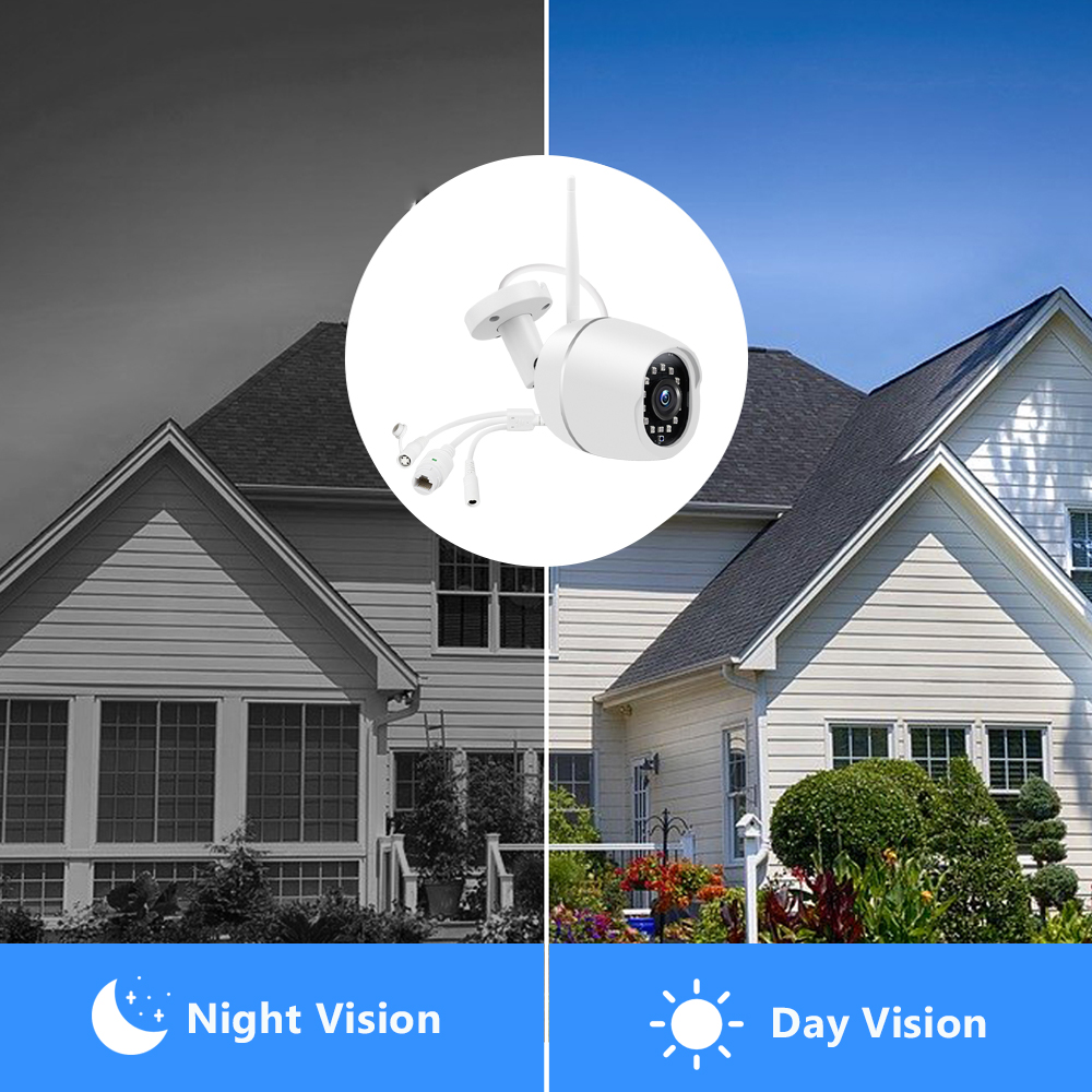 Image 4 - HISMAHO Outdoor IP Camera Wi Fi 1080P HD Metal Shell CCTV Wireless Security Video Surveillance Bullet Camera IR Light NightSurveillance Cameras   -