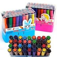 Pintura graffiti cabeça grossa aquarela caneta crianças com selo graffiti pintados à mão caneta grande capacidade lavável cor caneta conjunto