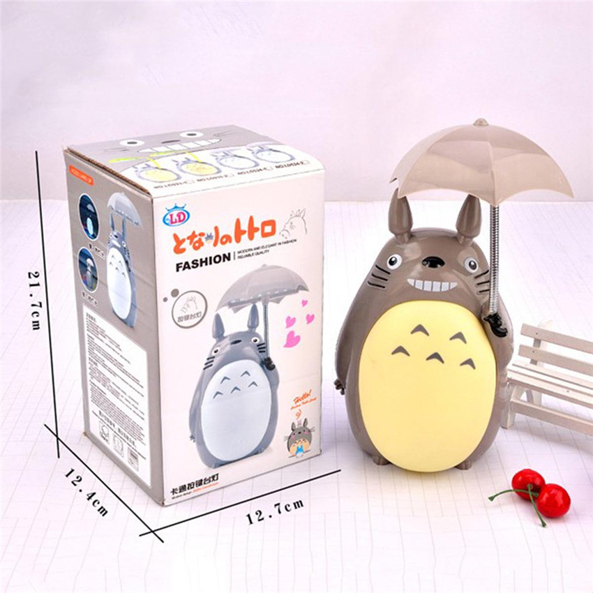 Kawaii Cartoon Novelty USB Lightings My Neighbor Totoro Lamp Led Night Light Reading Table Desk Lamps For Kids Gift Home Decor