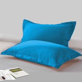 LAGMTA 2pc 100 bawełna solid color reaktywne barwione wysokiej jakości tkanina wysokiej jakości z zamkiem błyskawicznym poszewki różne rozmiary można dostosować tanie i dobre opinie Gładkie barwione Twill Tkane cszt Domu Hotel 500tc Poszewka na poduszkę Stałe Ekologiczne Jakość