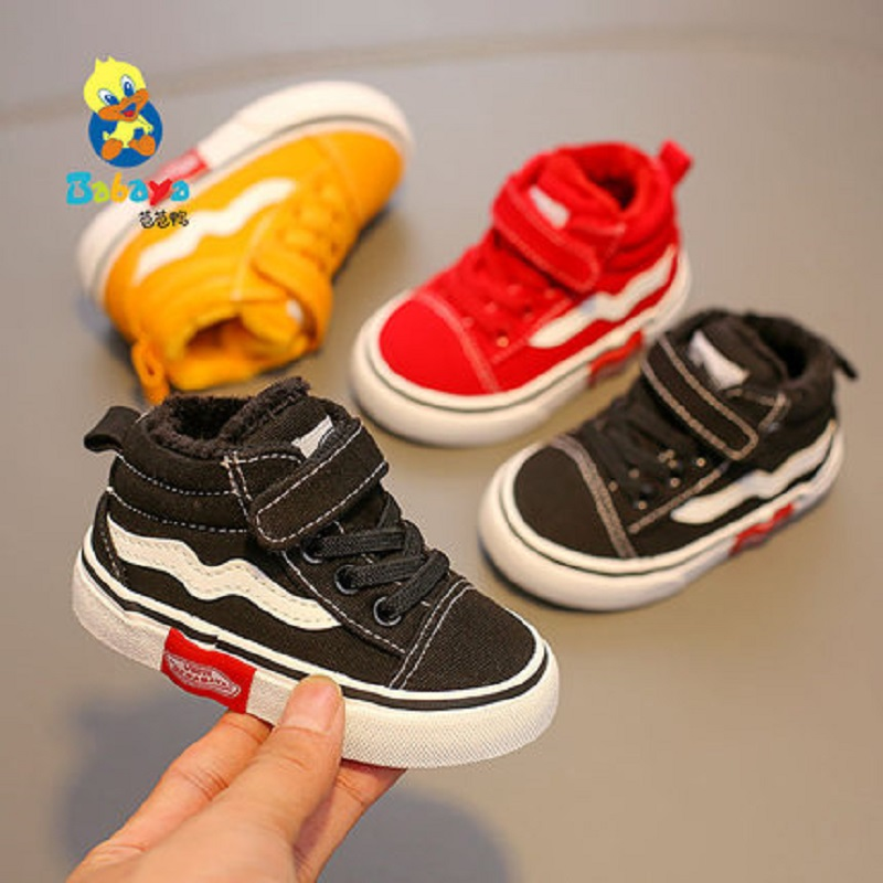Baby Shoes Girls Children Shoes 1-3 Years Old 2019 New Plus Velvet Canvas Shoes Thickening Toddler Shoes Boys Snow Boots