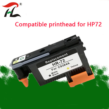 GY/PBK Compatible for HP72 printhead C9380A C9383A C9384A for HP DesignJet T1100 T1120 T1120ps T1300ps T2300 T610 T770 T790 T795 image