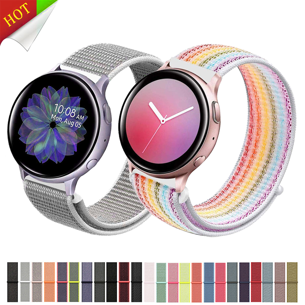 22mm Watch Band  For Samsung Galaxy Watch 46mm 42mm Active 2 Nylon Huawei Watch Gt Strap Amazfit Bip Gear S3 Frontier 44 40