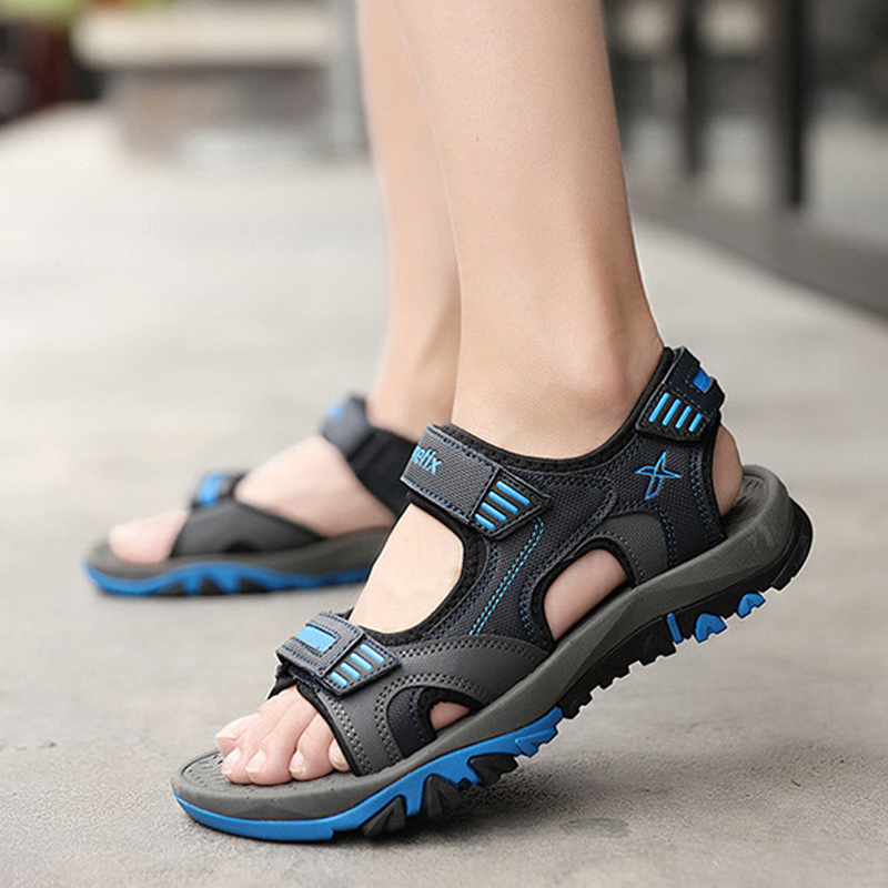 2020 Summer Shoes Men Sandals Outdoor Casual Beach Sandals Flat Sandalias Hombre Size 36 - 45