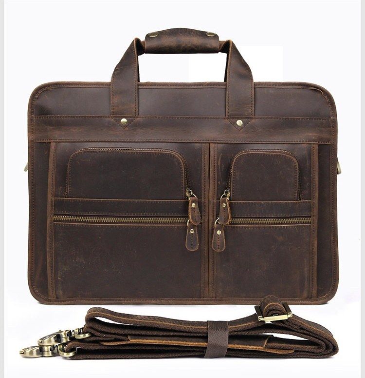 H53dd14a9d241492ba13ff76ad8cda2a4X MAHEU Vintage Leather Mens Briefcase With Pockets Cowhide Bag On Business Suitcase Crazy Horse Leather Laptop Bags 2019 Design