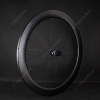 Spor ve Eğlence'ten Jantlar'de En iyi yol bisikleti bisiklet tekerlekleri tam Dimple Aero 45/58mm yol Tubeless TLR/boru en iyi yol bisiklet disk jantlar 350 satılık