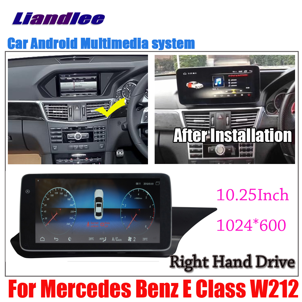 Liandlee 10.25Inch <font><b>Android</b></font> For <font><b>Benz</b></font> E Class <font><b>W212</b></font> E200 E300 E350 E63 2009~2017 Car Screen Carplay GPS Navi Navigation Map Media image