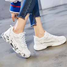 Hot Popular White Women Sneakers 2019 Fashion Letter Printed Breathable Mesh Sport Shoes  21818AHW2398