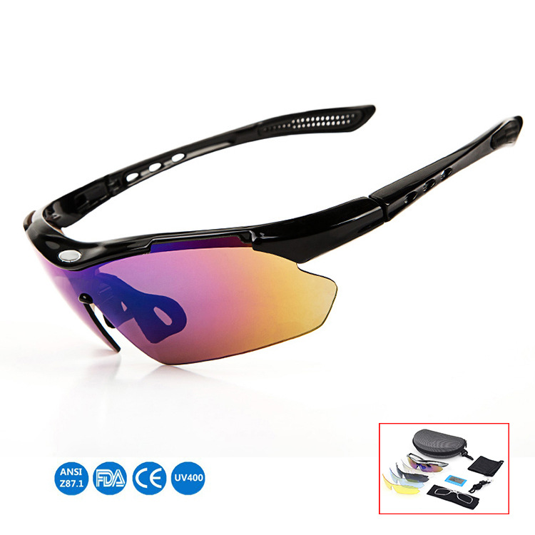 Outdoor Glasses For Riding Bicycle Glasses Sports Equipment Polarized Glasses Sun Glasses Five Pack