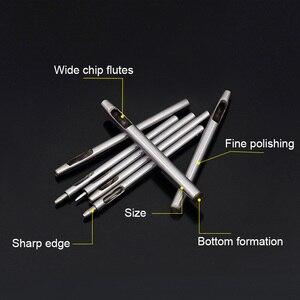 Image 5 - 10 Chiếc Vòng Rỗng Bấm Lỗ Cắt Leatherworking Độ Bám Thép Dụng Cụ DIY Cắt Cho Dây Ban Nhạc Đệm Puncher, 0.5 5 Mm