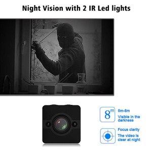 Image 2 - Mini cámara HD de 1080P con Sensor de movimiento y visión nocturna, grabadora de vídeo gran angular, videocámara secreta resistente al agua