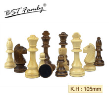 32 or 34 Pieces Wooden Chess King Height 105mm Set Game High Quality Chessmen Board for Competition IA8