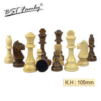 32 or 34 Pieces Wooden Chess Pieces King Height 105mm Chess Set Chess Game High Quality Chessmen or Board for Competition IA8