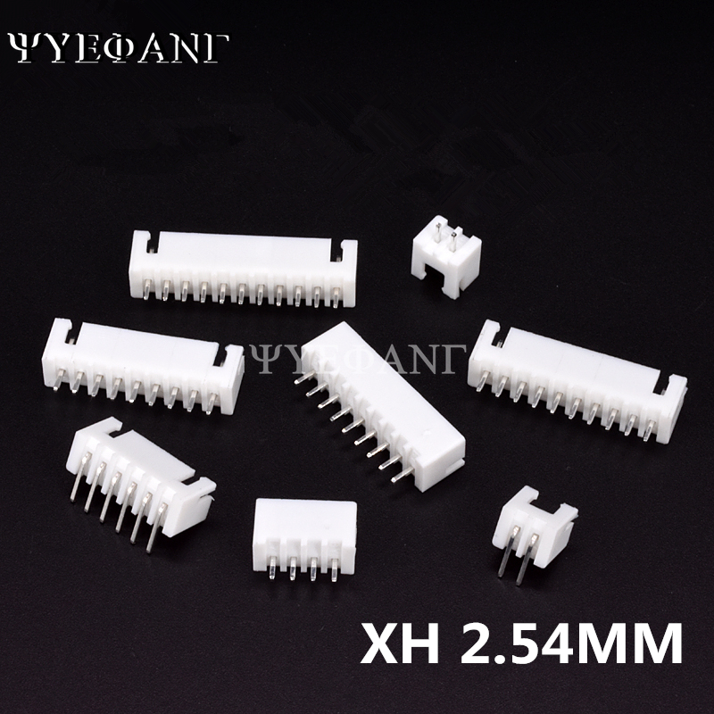 50Pcs/lot <font><b>XH</b></font> <font><b>2.54MM</b></font> <font><b>Connector</b></font> 2/3/4/5/6/7/8/9/10P 12Pin <font><b>2.54mm</b></font> <font><b>Male</b></font> Straight / Looper needle Socket Connectors FOR PCB BOARD image