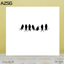 ZhuoAng Little bird Clear Stamps For DIY Scrapbooking/Card Making Decorative Silicon Stamp Crafts