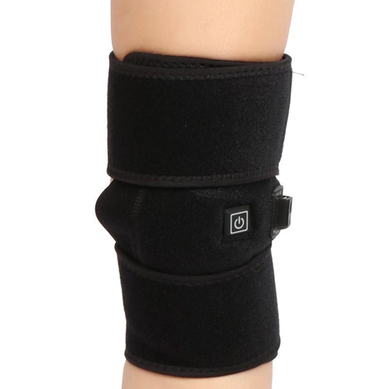 New Heated Knee Brace Wrap USB Electric Heating Knee Pad Rechargeable Knee Protector For Arthritis Pain Knee Electric Massager