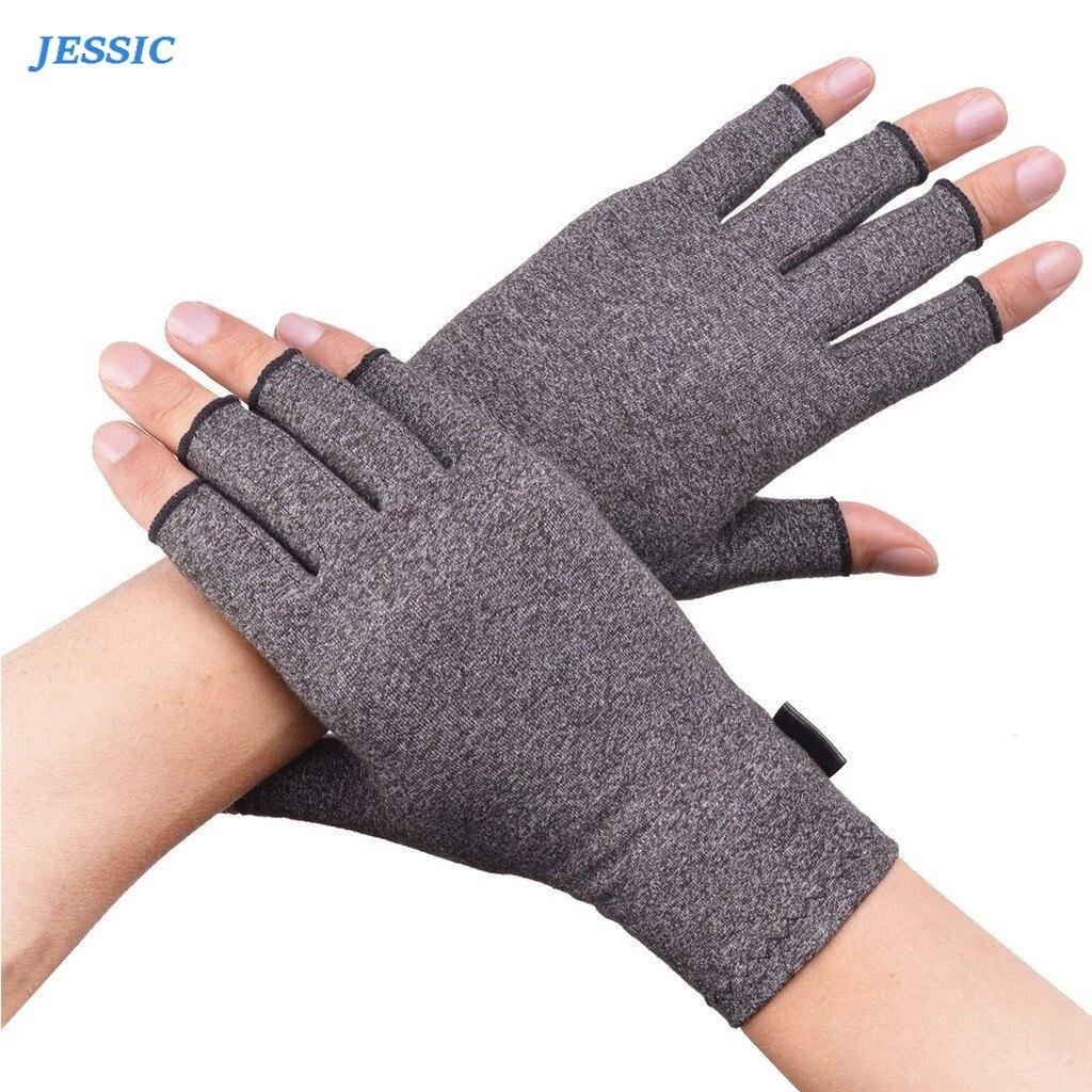 JESSIC Compression Arthritis Gloves Wrist Cotton Joint Pain Relief Hand Brace Women Men Therapy Wristband  Arthritis Gloves