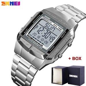 Image 1 - Herren Uhren SKMEI Sport Militär LED Digital Uhr Top Marke Luxus Elektronische Wasserdichte Männliche Armbanduhren Relogio Masculino