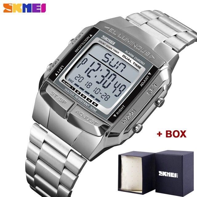 Herren Uhren SKMEI Sport Militär LED Digital Uhr Top Marke Luxus Elektronische Wasserdichte Männliche Armbanduhren Relogio Masculino