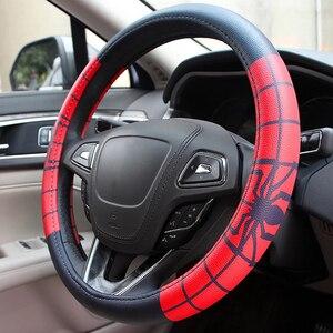 Image 2 - Koele Cartoon Auto Stuurwiel Covers Case Comfortabele Anti Slip Auto Stuurwiel Cover Auto Accessoires