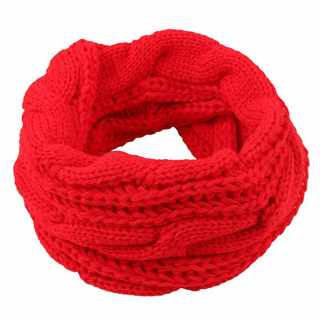 Fashion winter scarf Solid Ring Women Scarf Fashion Winter Keep Warm Scarves Womens Solid Braid knitting Wool Ring Scarfs Adult