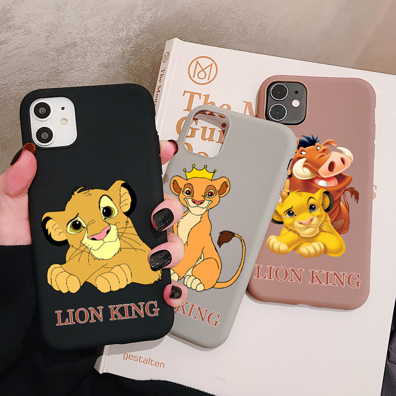 Cartoon Lion King Phone Case for <font><b>XiaoMi</b></font> <font><b>Mi</b></font> 10 9 8 CC9 Pro Lite A1 A2 A3 CC9e Frosted Silicone Cases Soft Back <font><b>Cover</b></font> image