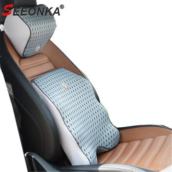 3D Mesh Car Pillow Car Seat Cushion Lumbar Support Back Pain Pillow Memory Foam Massage comfort breathable Seat Support