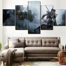 цена на Modular Canvas Print Picture Living Room Home Decor 5 Piece Lara Croft Poster Rise of the Tomb Raider Posters Wall Art Framework