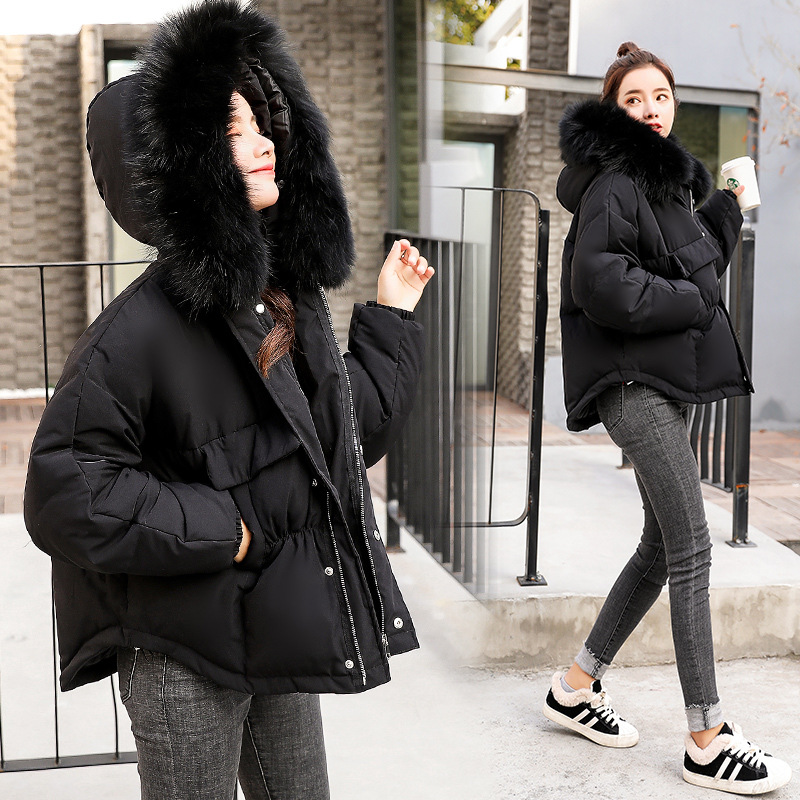 Cotton Coat Women's Korean-style Casual Slimming Winter Coat Cotton-padded Clothes Women's Short Students Thick Warm Cotton-padd