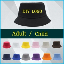 DIY Bucket Hat Custom Logo Printing Embroidery Adult Child High-quality Leisure Travel Fishing Summer Spring Autumn Cotton Hat