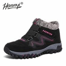 חורף נעלי אישה באיכות גבוהה עמיד למים קטיפה להתחמם נשים של מגפי אבזם רצועת חיצוני החלקה קרסול מגפיים עבור נשים