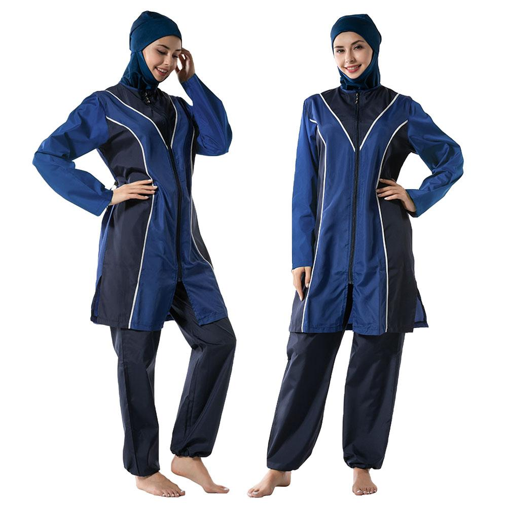 3PCS Modest Swimwear Muslim Women Summer Swimming Beachwear Burkini Clothes HOT