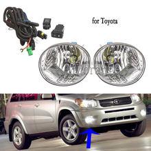 Туман светильник для Toyota RAV4 2004 2005 головной светильник s головной светильник светодиодный фонарь светильник s для Lexus Галогенные Противотума...