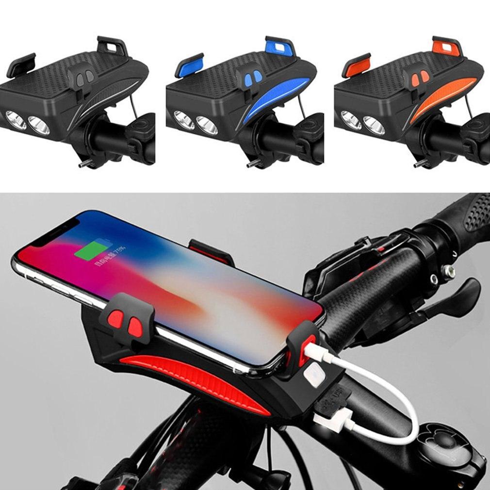Многофункциональный велосипедный светильник, перезаряжаемый через USB светодиодный фонарь для велосипеда, велосипедный держатель для теле...